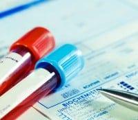 Bluttest - Blutproben und Formular